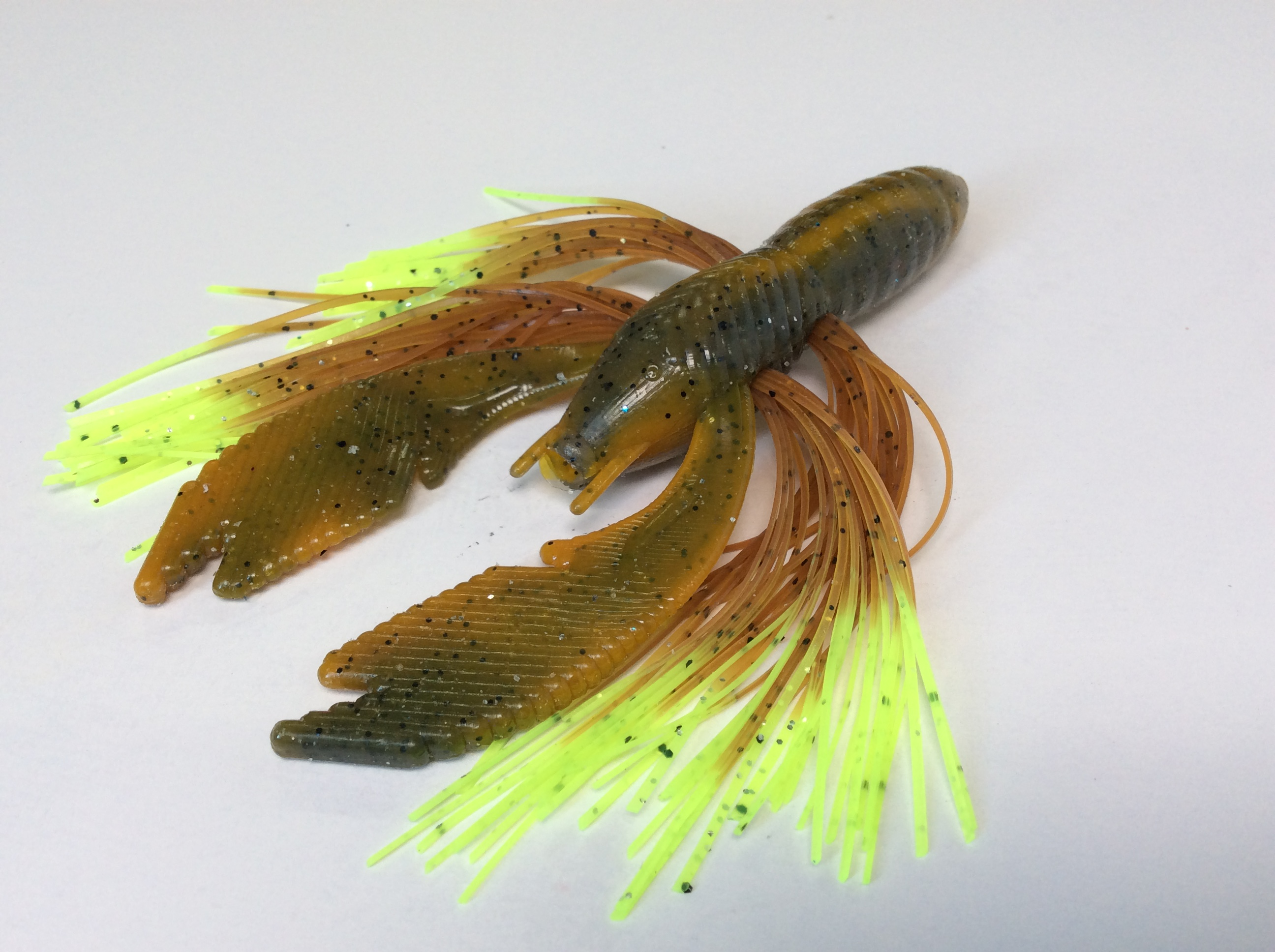 Craw with Pumpkin Chartreuse Tip