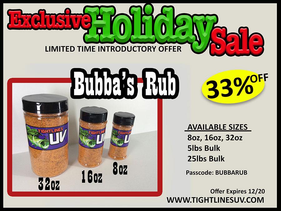 Holiday Sale Bubba Rub
