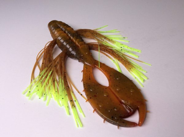 The Punch - Craw with Pumpkin Chartreuse Tip