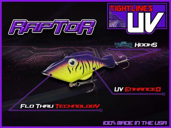 Tightlines UV-RAPTOR Lipless Bass Crankbait