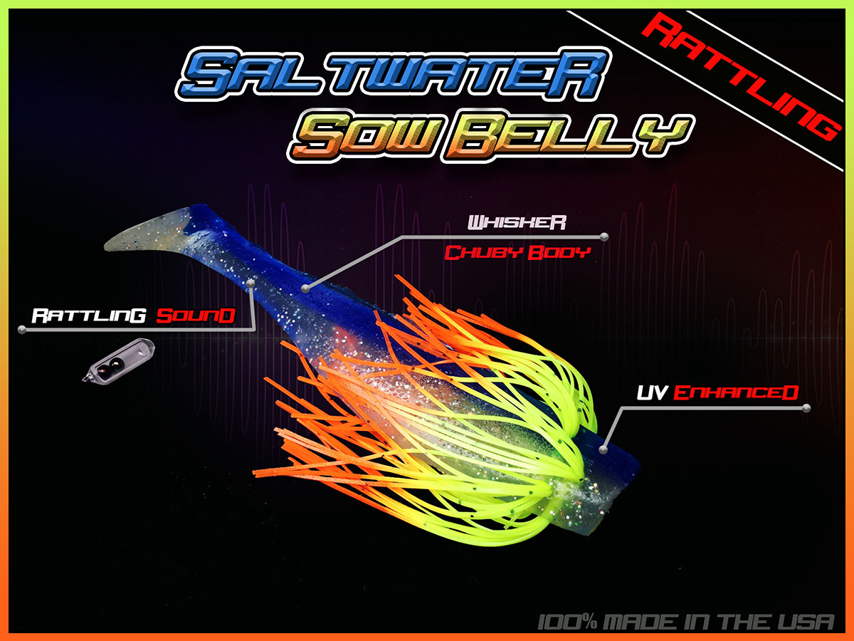 Saltwater Sow Belly Rattl'N 5″