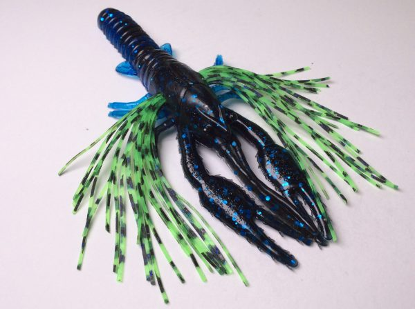 Tightlines UV Whiskers T-Craw - Blue/Black with Electric Green