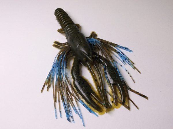 Tightlines UV Whiskers T-Craw - Green Pumpkin with Light Blue Green