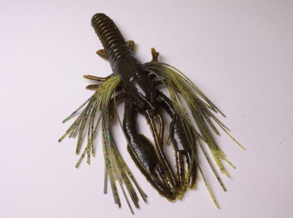 Tightlines UV Whiskers T-Craw - Green Pumpkin with Marti Gra