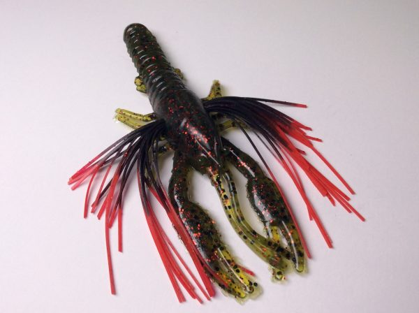 Tightlines UV Whiskers T-Craw - Watermelon Red with Black Red Tip