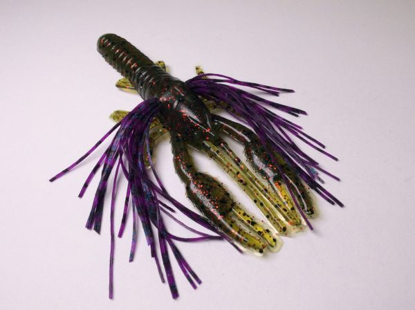 Tightlines UV Whiskers T-Craw - Watermelon Red with Grape Craw