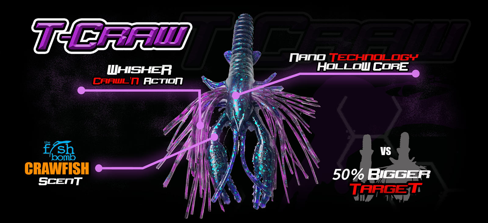 T Craw UV Bass Bait REV